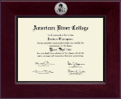 American River College Diploma Frame - Century Silver Engraved Diploma Frame in Cordova