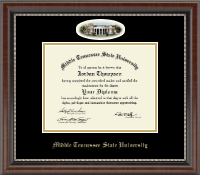 Middle Tennessee State University Diploma Frame - Campus Cameo Diploma Frame in Chateau