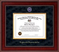National Directory of U.S. Registered Securities Representatives & Advisors Certificate Frame - Registered Representative Presidential Masterpiece Certificate Frame in Jefferson
