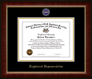 National Directory of U.S. Registered Securities Representatives & Advisors Certificate Frame - Registered Representative Masterpiece Medallion Certificate Frame in Murano