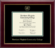 Northern Virginia Community College Diploma Frame - Gold Embossed Diploma Frame in Gallery