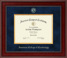 American College of Cardiology Certificate Frame - Presidential Masterpiece Certificate Frame in Jefferson