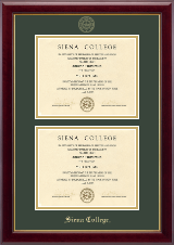Siena College Diploma Frame - Double Diploma Frame in Gallery