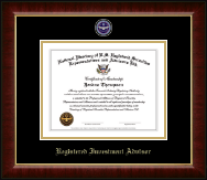 National Directory of U.S. Registered Securities Representatives & Advisors Certificate Frame - Registered Investment Advisor Masterpiece Medallion Certificate Frame in Murano