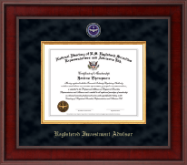 National Directory of U.S. Registered Securities Representatives & Advisors Certificate Frame - Registered Investment Advisor Presidential Masterpiece Certificate Frame in Jefferson