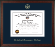 National Directory of U.S. Registered Securities Representatives & Advisors Certificate Frame - Registered Investment Advisor Gold Embossed Certificate Frame in Studio