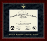 California State Polytechnic University, Pomona Diploma Frame - Gold Embossed Diploma Frame in Sutton