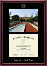 University of North Texas Diploma Frame - Campus Scene Diploma Frame in Gallery