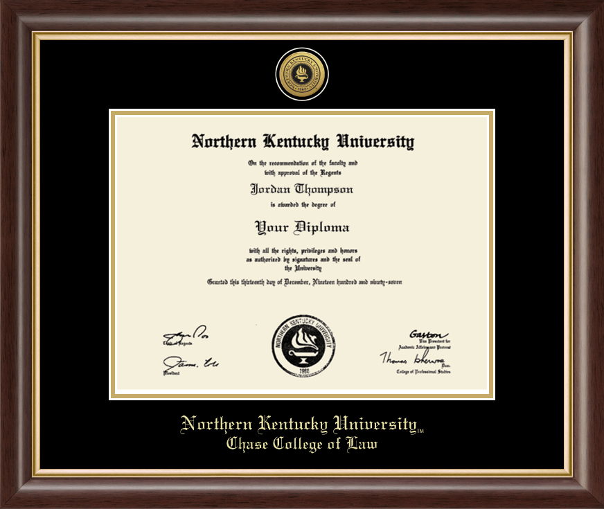 Northern Kentucky University Gold Engraved Medallion Diploma Frame ...