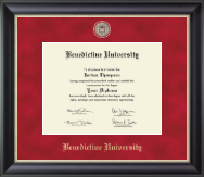 Benedictine University Diploma Frame - Regal Edition Diploma Frame in Noir