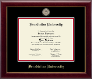 Benedictine University Diploma Frame - Masterpiece Medallion Diploma Frame in Gallery