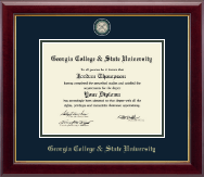 Georgia College & State University Diploma Frame - Masterpiece Medallion Diploma Frame in Gallery