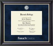 Baruch College Diploma Frame - Regal Edition Diploma Frame in Midnight