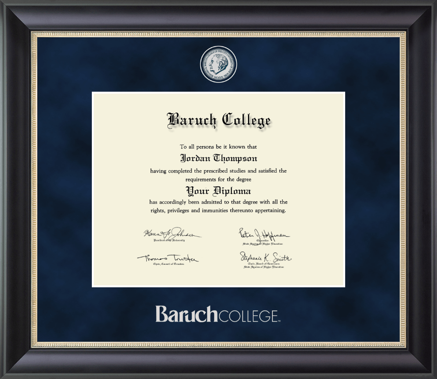 Baruch College Regal Edition Diploma Frame In Noir Item