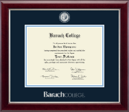Baruch College Diploma Frame - Masterpiece Medallion Diploma Frame in Gallery Silver