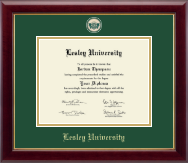 Lesley University Diploma Frame - Masterpiece Medallion Diploma Frame in Gallery