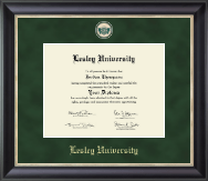Lesley University Diploma Frame - Regal Edition Diploma Frame in Noir