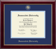 Immaculata University Diploma Frame - Masterpiece Medallion Diploma Frame in Gallery
