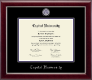 Capital University Diploma Frame - Masterpiece Medallion Diploma Frame in Gallery Silver