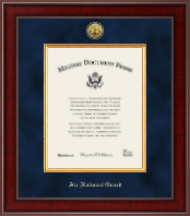 """11""""x14"""" - Presidential Gold Engraved Air National Guard Certificate Frame"""