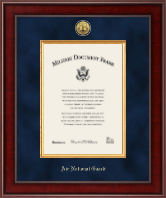 "10""x14"" - Presidential Gold Engraved Air National Guard Certificate Frame"