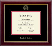 Foothill College Diploma Frame - Gold Embossed Diploma Frame in Gallery