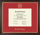 Foothill College Diploma Frame - Gold Embossed Diploma Frame in Studio Gold