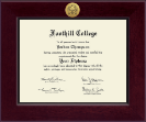 Foothill College Diploma Frame - Century Gold Engraved Diploma Frame in Cordova