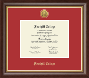 Foothill College Diploma Frame - Gold Engraved Medallion Diploma Frame in Hampshire