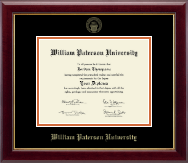William Paterson University Diploma Frame - Gold Embossed Diploma Frame in Gallery