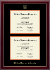 William Paterson University Diploma Frame - Double Diploma Frame in Gallery