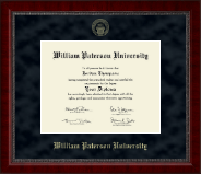 William Paterson University Diploma Frame - Gold Embossed Diploma Frame in Sutton