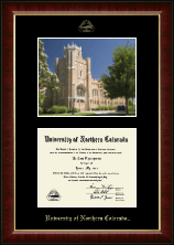 University of Northern Colorado Diploma Frame - Campus Scene Edition Diploma Frame in Murano