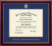 The University of Tennessee Chattanooga Diploma Frame - Masterpiece Medallion Diploma Frame in Gallery