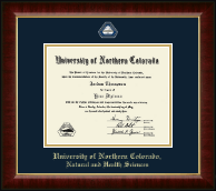 University of Northern Colorado Diploma Frame - Masterpiece Medallion Diploma Frame in Murano