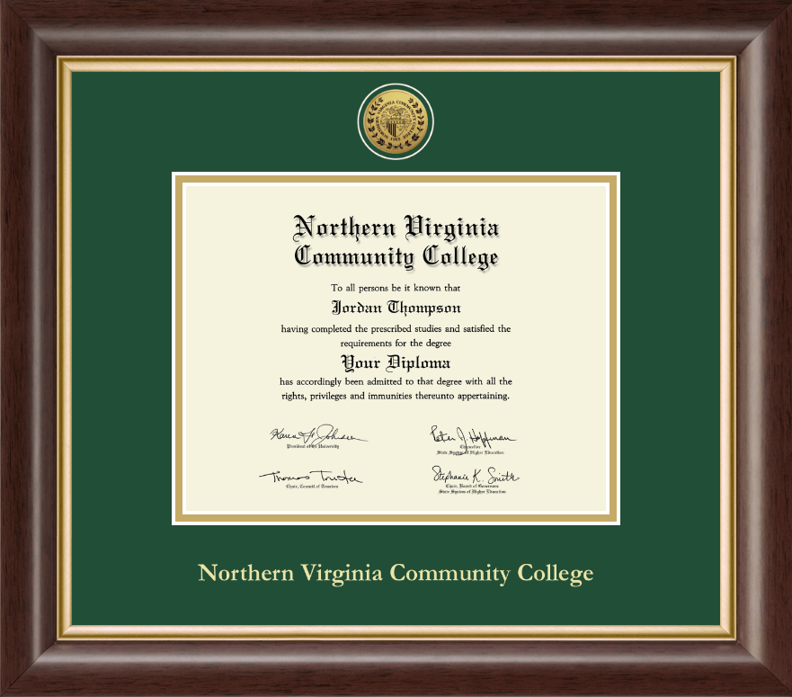 Northern Virginia Community College Gold Engraved