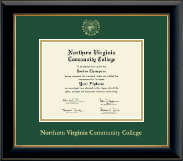 Northern Virginia Community College Diploma Frame - Gold Embossed Diploma Frame in Onyx Gold