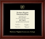 Northern Virginia Community College Diploma Frame - Gold Embossed Diploma Frame in Cambridge