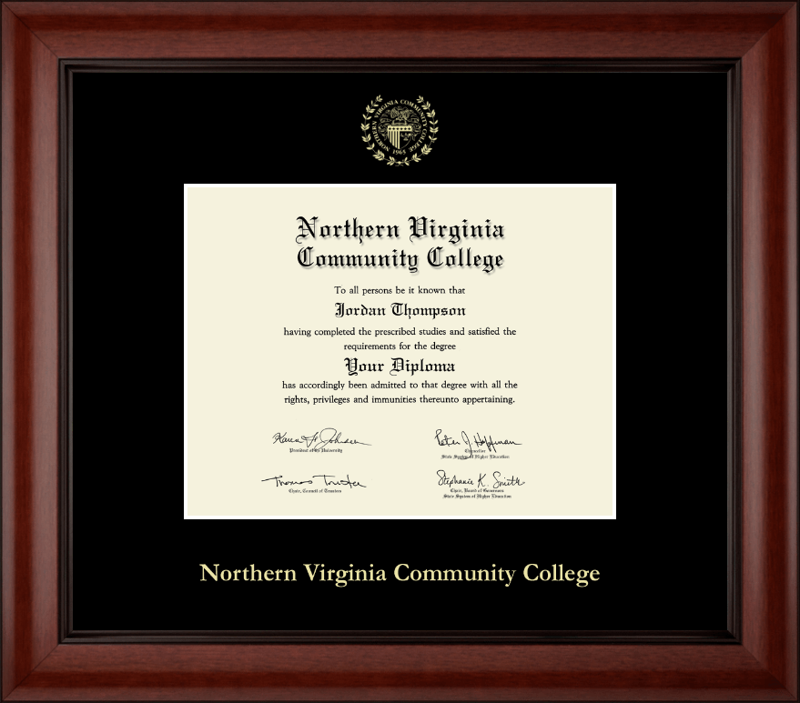 Northern Virginia Community College Gold Embossed Diploma Frame In Cambridge