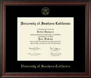 University of Southern California Diploma Frame - Gold Embossed Diploma Frame in Studio