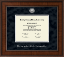 Bridgewater State University  Diploma Frame - Presidential Silver Engraved Diploma Frame in Madison