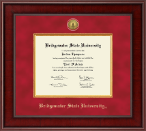 Bridgewater State University  Diploma Frame - Presidential Gold Engraved Diploma Frame in Jefferson