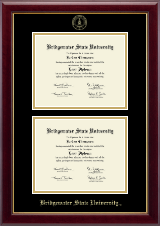 Bridgewater State University  Diploma Frame - Double Diploma Frame in Gallery