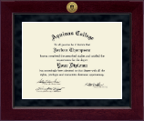Aquinas College in Michigan Diploma Frame - Millennium Gold Engraved Diploma Frame in Cordova