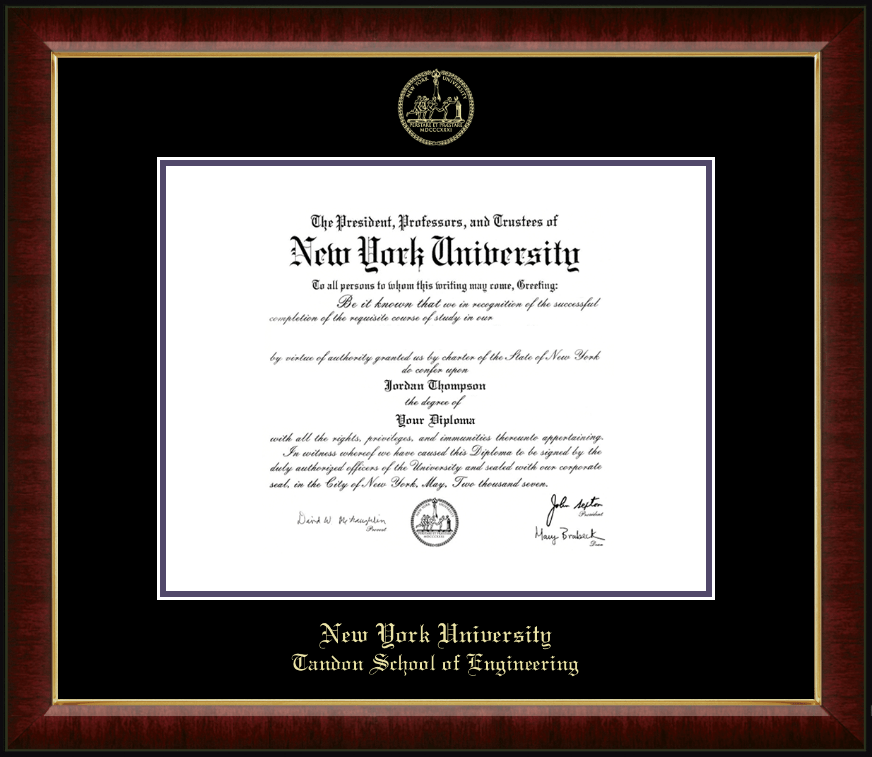 New York University Gold Embossed Diploma Frame in Murano - Item ...