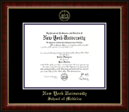 New York University Diploma Frame - Gold Embossed Diploma Frame in Murano