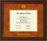 Georgetown College Diploma Frame - Presidential Gold Engraved Diploma Frame in Madison