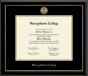 Georgetown College Diploma Frame - Gold Engraved Medallion Diploma Frame in Onyx Gold
