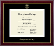 Georgetown College Diploma Frame - Gold Embossed Diploma Frame in Gallery