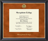 Georgetown College Diploma Frame - Gold Engraved Medallion Diploma Frame in Noir